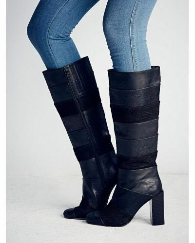 Free People + Jeffrey Campbell Mariana Knee Boots Size 7 MSRP  328