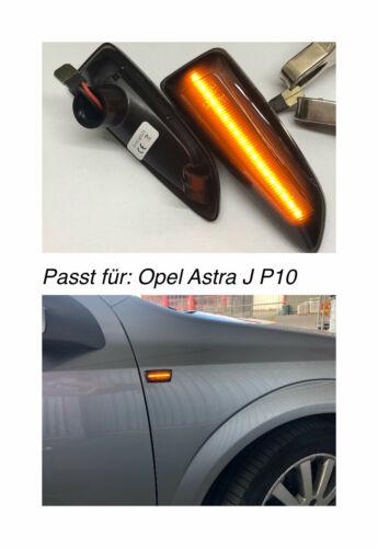 121 Top Noir DEL Clignotants Latéraux Clignotants Pour Opel Astra J p10