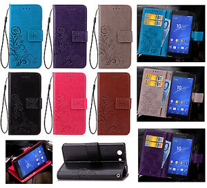 Four-Leaf-Clover-Strap-Leather-Wallet-Card-Case-Stand-Cover-For-Various-Phone-SD