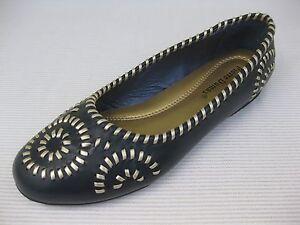 Pierre-Dumas-Womens-Shoes-42-Gloria-Navy-Blue-Woven-Ballet-Flat-9-M