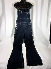 Silver Brand Jeans Bib Overalls Dark Denim Flare Leg Size Junior 5/33 Small