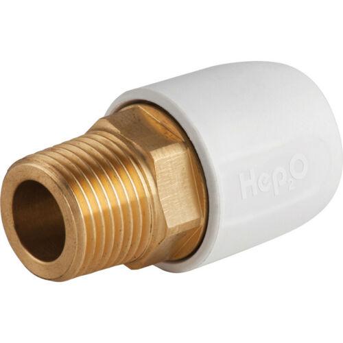 "Hep2O Male Adaptor Brass Socket 15mm x 1//2/"""