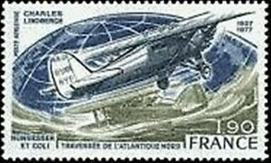 """FRANCE TIMBRE STAMP POSTE AERIENNE 50 """" LINDBERGH NUNGESSER 1F90 """" NEUF XX LUXE Oxjttpzc-07155552-137749704"""