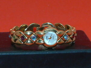 Pre-Owned-Women-s-Pierre-Jacguard-Fashion-Jeweled-Band-Analog-Watch