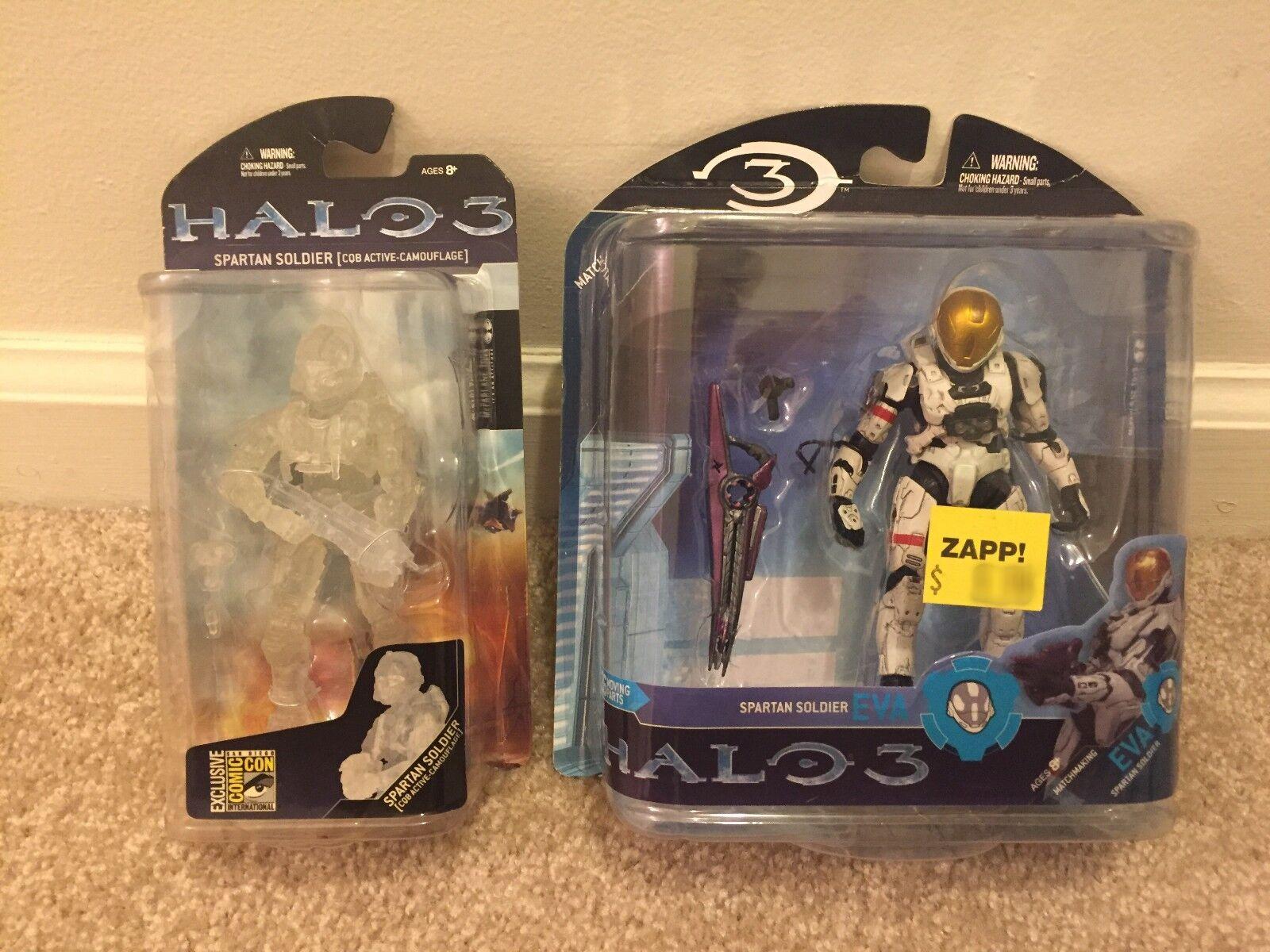Halo 3 Bundle Series 2 White Spartan Soldier (Eva Armor)+ Exclusive Active Camo