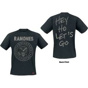 The-Ramones-Logo-Seal-Hey-Ho-Official-Merchandise-T-Shirt-M-L-XL-Neu