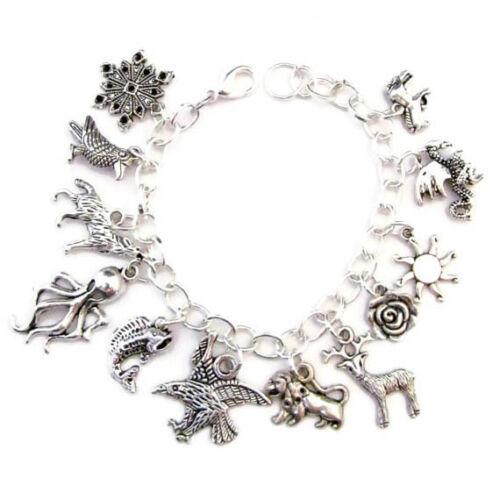 Game of Thrones inspired bracelet gagner ou mourir Style Bracelet Breloque Ton Argent