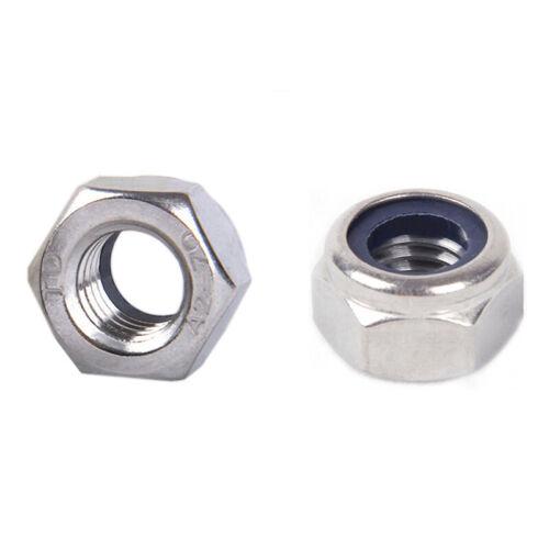 M2 M2.5 M3 M4-M16 Hex Hexagon Nylon Insert Lock Nut Self–locking Nylock Locknut