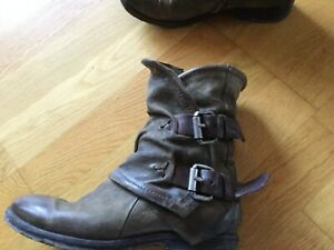 buy popular 356fc 0069d Details zu A.S.98 Damen Stiefelette Stiefel Leder Gr 37 Ankle Boots AS 98