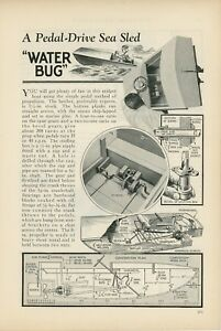 1933-How-to-Build-Pedal-Drive-Sea-Sled-Boat-Water-Bug-Kids-Toy