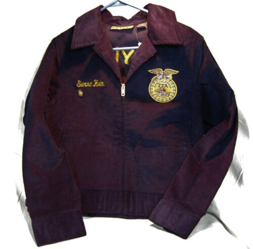 FFA Future Farmers Of America Corduroy Zip Up Jack