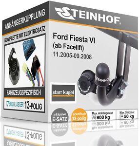 Anhaengerkupplung-starr-Fuer-Ford-FIESTA-VI-ab-11-2005-09-2008-E-SATZ-13p-SPEZ