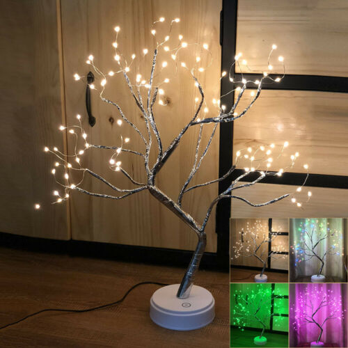 Decor Table Night Allumer Lampe Bonsai Home Pré Led Éclairé Twig c54LAjS3Rq