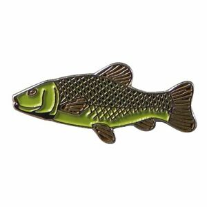 Metal Enamel Pin Badge Brooch Fish Trout Fishing Angler Angling