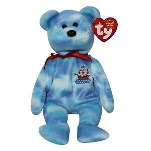 Ty Beanie Baby Santa Maria - MWMT (Bear Internet Exclusive 2004)