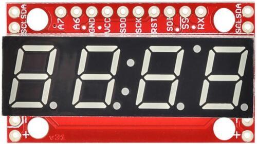 SPARKFUN ELECTRONICS 7 Segment Serial Display Board