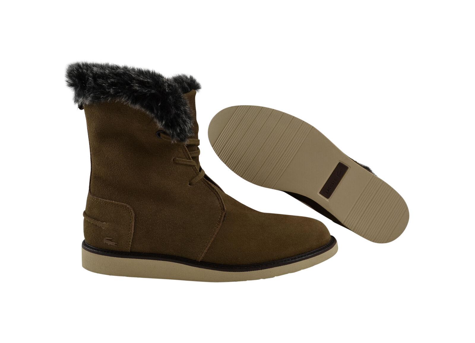 Lacoste Baylen 2 SRW botas de invierno botas tan/zapatos piel forro marrón