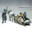 Carriage Unassembled Unpainted 1//35 Resin WWII German Soldiers 3 Figures