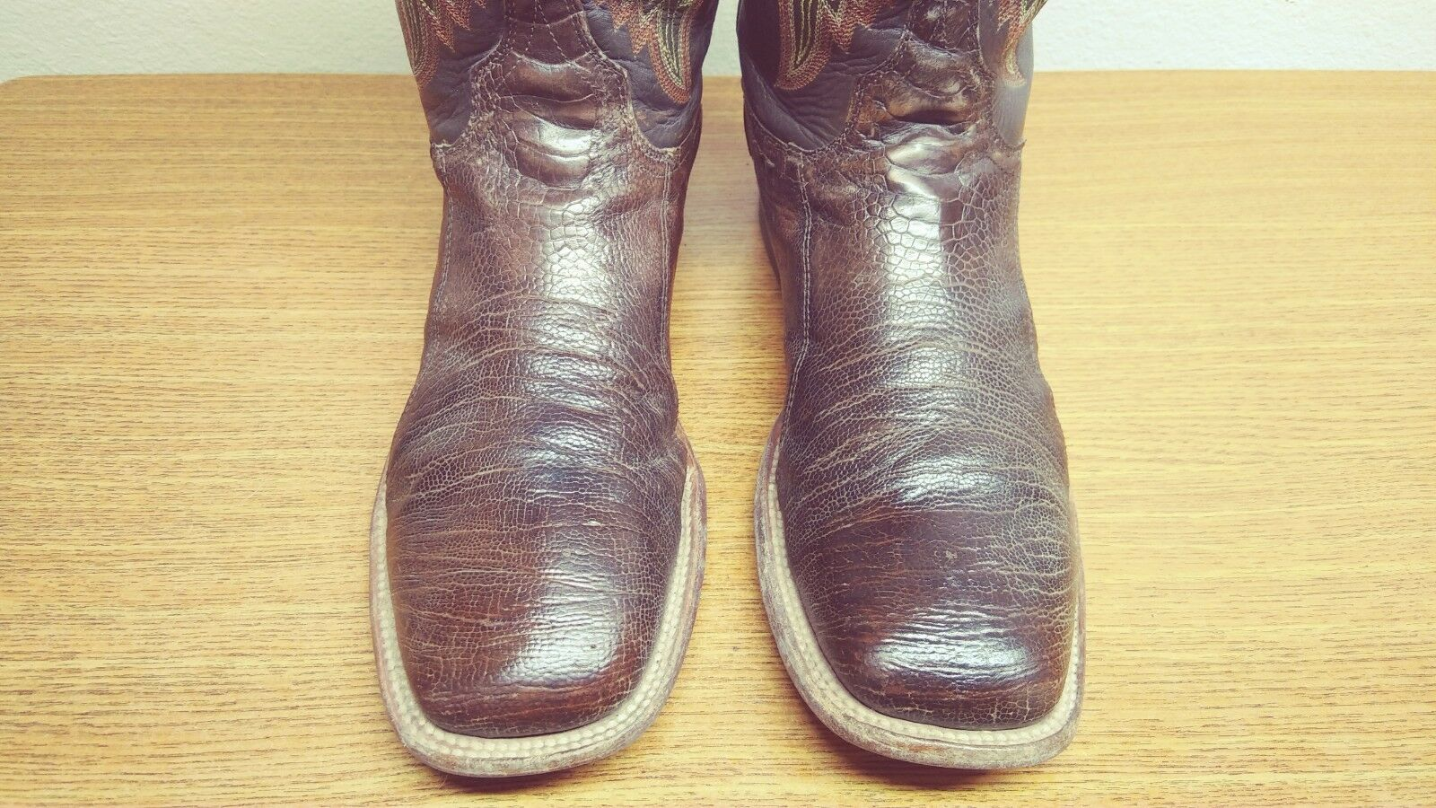 Mens Mens Mens 12 D Lucchese Marroneee Exotic OSTRICH LEG Square Toe Western Cowboy stivali ea7a8c