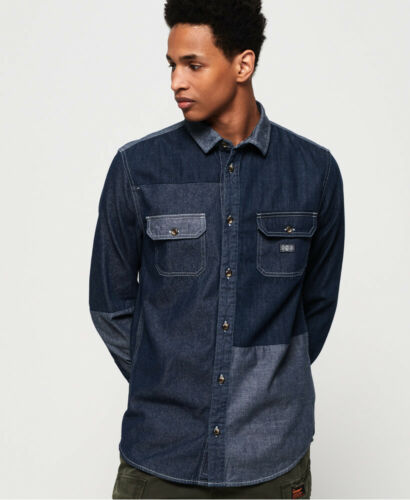 Superdry Mens Worker Long Sleeve Shirt