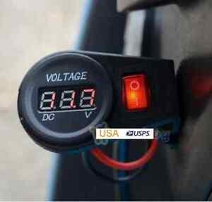 12V-20A-HEAVY-DUTY-WATERPROOF-LED-Digital-Voltmeter-W-Switch