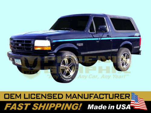 1991 1992 Ford NITE Night Truck F150 Bronco Cab Bed Decals Stripes Graphics Kit