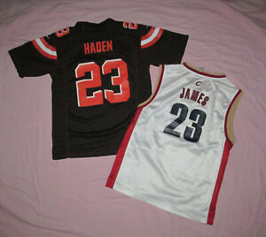 Details about Cleveland Browns Haden jersey and Cavaliers James jersey Youth L Lot 2 jerseys