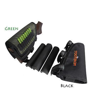 Tourbon Rifle Ammo Holder Cheek Piece Rest Adjustable Pads Mag Pouch Butt Stock