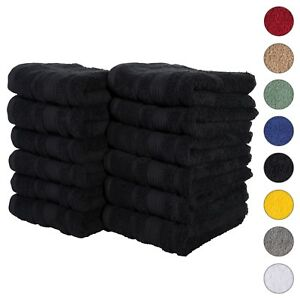 NEW BLACK Color ULTRA SUPER SOFT LUXURY PURE TURKISH 100% COTTON HAND TOWELS