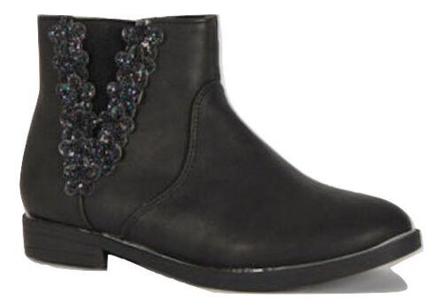 Ragazze/Neonato Chelsea Alla Caviglia Floreale Scintillante Glitter Decorazione in Metallo Nuovo Prezzo Consigliato £ 20