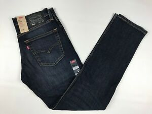 21da9f2ec4d Men's Levi's Slim Fit 511 Blue Jeans Size 31 X 32 Stretch Dark Wash ...
