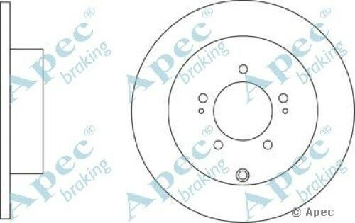 Pair 1x OE Quality Replacement Rear Axle Apec Solid Brake Disc 5 Stud 302mm