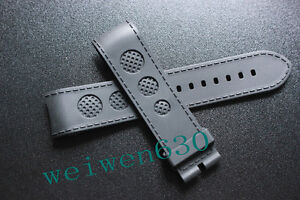 23MM Thicken BLACK RUBBER WATCH BAND STRAP FOR FIT U-BOAT Timing series