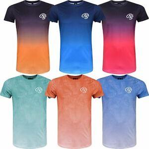 New-Mens-Crosshatch-T-Shirt-Summer-Contrast-Fade-2-Tone-Short-Sleeved-Top-Tee