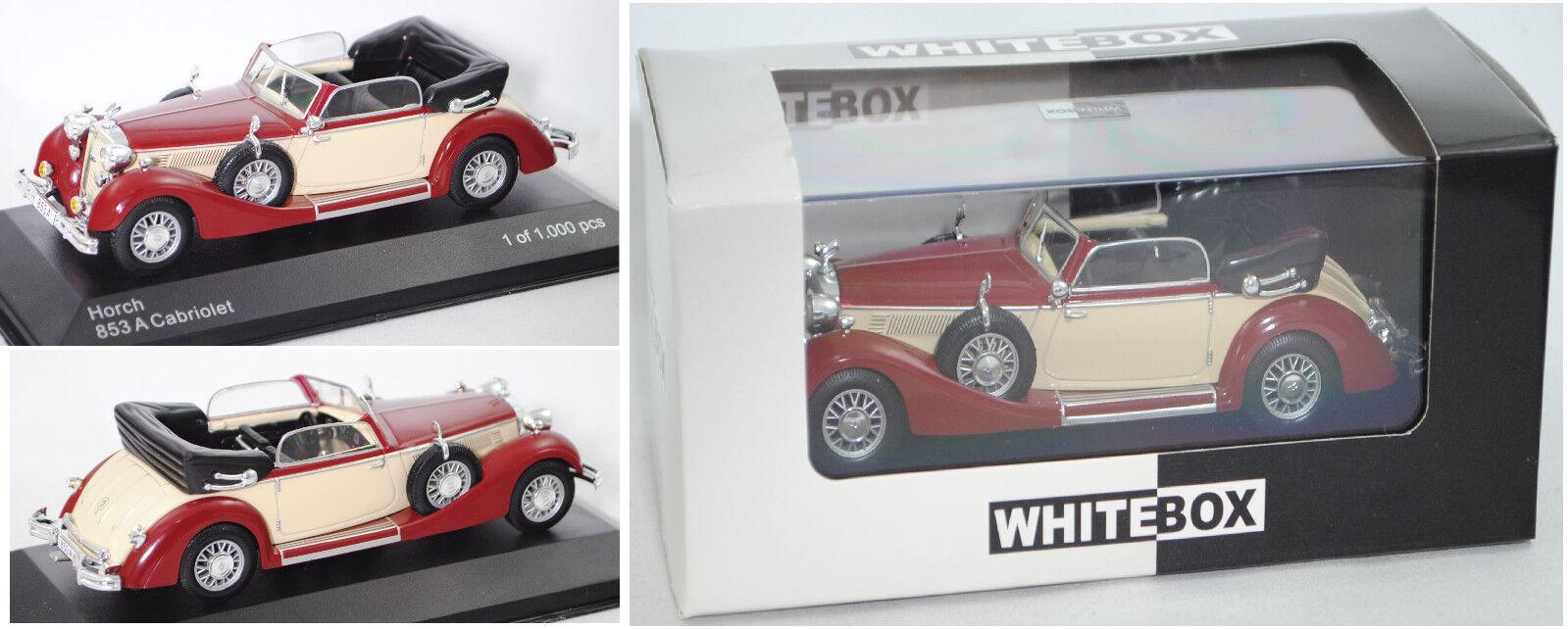 Horch 853A Cabrio 1938 rot beige Modellauto WB258 Whitebox 1:43
