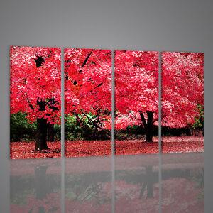 Quadri Moderni Autumn Fantasy Quadro Moderno Xxl Fiori Arredamento Casa Salotto Ebay