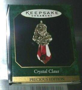 Hallmark-Precious-Edition-Ornaments-CRYSTAL-CLAUS-SILVER-PLATE-1999