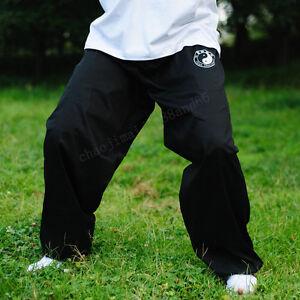 Cotton-Kung-Fu-Tai-chi-martial-arts-Pants-Wing-chun-Training-Trousers-Men-black