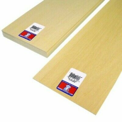 """60 Strips Midwest Products 4022 Basswood 1//16/"""" x 1//16/"""" x 24/"""""""