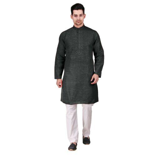 Guggi Men/'s Cotton Kurta Pajama Indian Outfit AR150