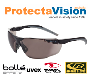 fa2c230b8f2 Image is loading Bolle-Universal-Smoke-Lens-Safety-Glasses-Sunglasses -CLEARANCE-