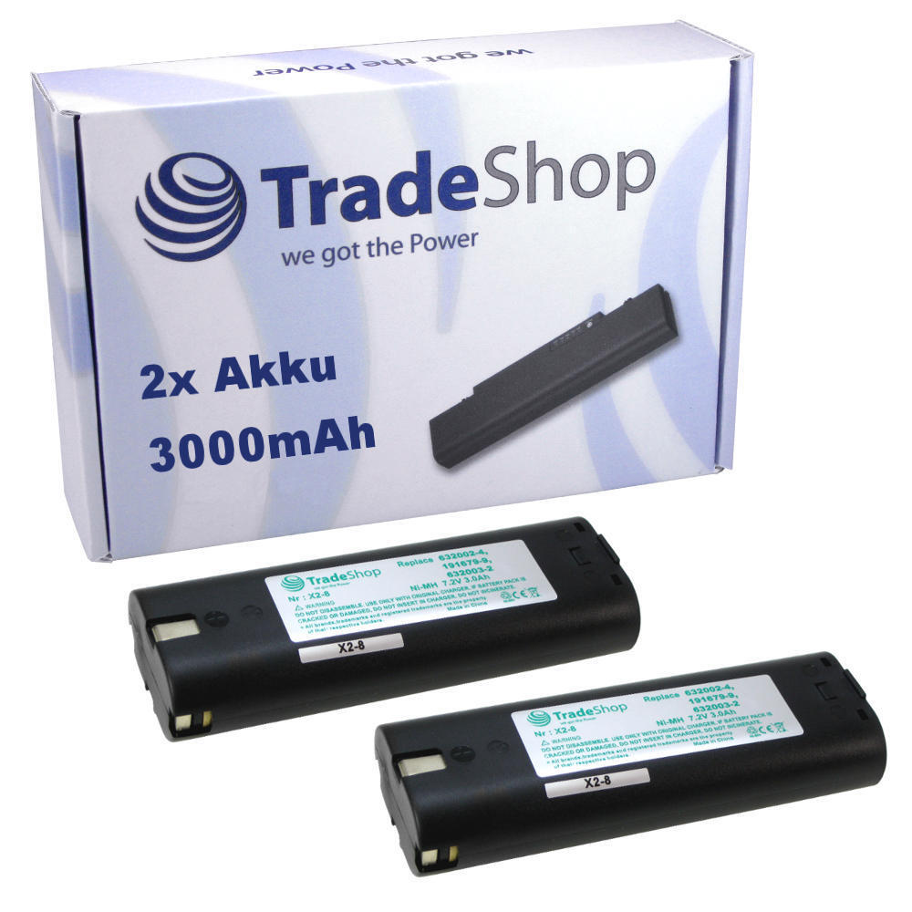 2x Trade-Shop Hochleistungs Akku 7,2V 7,2V 7,2V 3000mAh ersetzt Einhell 91011 de01f8