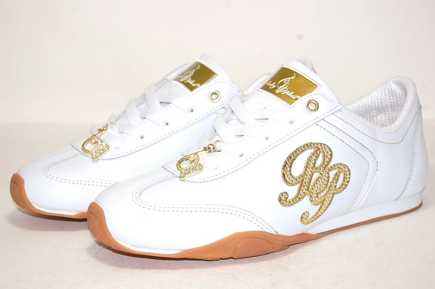 Baby Phat Endo Elather White gold BP51203L Classic shoes Women