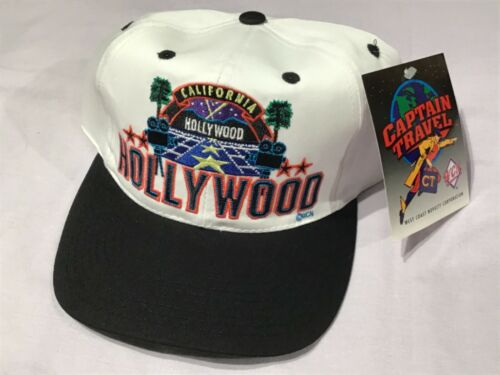 Details about  /Vintage HOLLYWOOD CALIFORNIA SnapBack Hat Cap NOS NEW NWT by Captain Travel WCN
