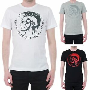 Diesel-Homme-T-Shirt-Manches-courtes-Col-rond-20511