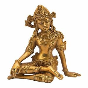 Signore Dio Indù INDRA DEV STATUA SCULTURA Idolo Figurina