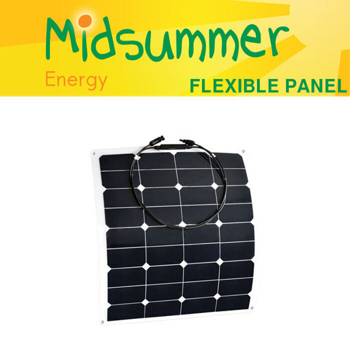 55W 12 volt Flexi Solar Panel with high-efficiency cells - motorhomes, yachts