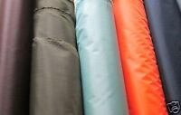 2oz WATERPROOF FABRIC  PU COATED  per metre  various colours