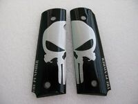 Cool1911 Grips Big Silver Skull Art Resin Grips,colt Kimber 1911 Full Size