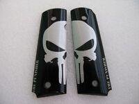 Cool1911 Grips Big Silver Skull Punisher Resin Grips,colt Kimber 1911 Full Size